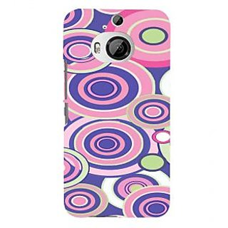 ifasho Animation Clourful Circle Pattern Back Case Cover for HTC ONE M9 Plus
