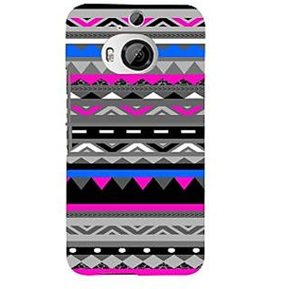 ifasho multi color 3Diangular and circle Pattern Back Case Cover for HTC ONE M9 Plus