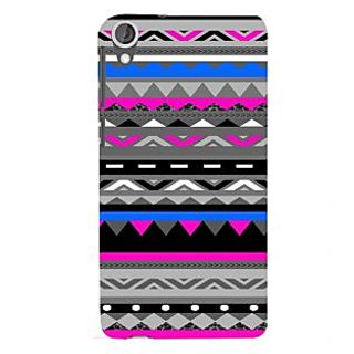 ifasho multi color 3Diangular and circle Pattern Back Case Cover for HTC Desire 820