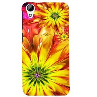 ifasho Flower Design multi color Back Case Cover for HTC Desire 728
