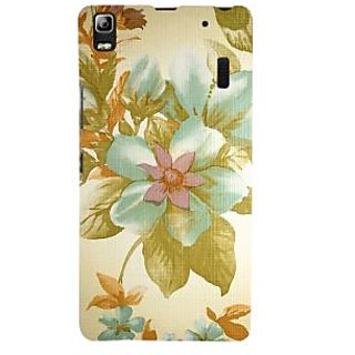 ifasho Animated Pattern colrful design flower with leaves Back Case Cover for Lenovo A7000