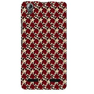 ifasho Animated Pattern rose flower with leaves Back Case Cover for Lenovo A6000