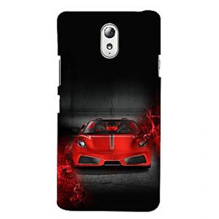 ifasho Stylish RED Car Back Case Cover for Lenovo Vibe P1M