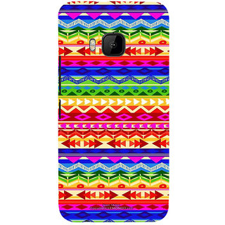 ifasho multi color 3Diangular and circle Pattern Back Case Cover for HTC One M9