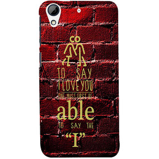 ifasho Love Quotes I love you Back Case Cover for HTC Desire 728
