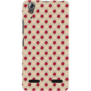 ifasho Animated Pattern small red rose flower Back Case Cover for Lenovo A6000