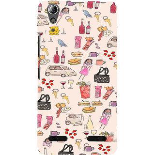 ifasho Modern Art Design Pattern girl shop car food bird Back Case Cover for Lenovo A6000