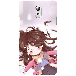 ifasho Winking Girl Back Case Cover for Lenovo Vibe P1M