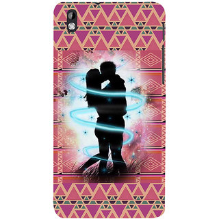 ifasho couple kissing Back Case Cover for HTC Desire 816