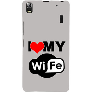 ifasho I love my wife quotes Back Case Cover for Lenovo A7000