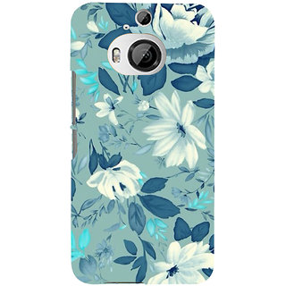 ifasho Modern Art Design animated cloth Pattern of flower Back Case Cover for HTC ONE M9 Plus