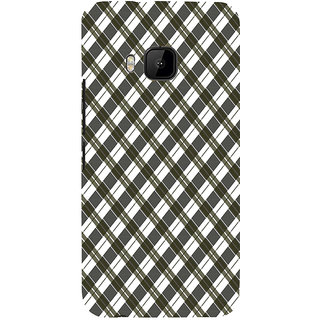 ifasho Colour Full Square Pattern Back Case Cover for HTC One M9