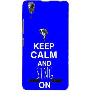 ifasho Nice Quote On Keep Calm Back Case Cover for Lenovo A6000