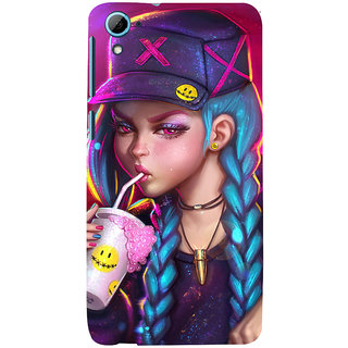 ifasho Girl drinking cold drink Back Case Cover for HTC Desire 826