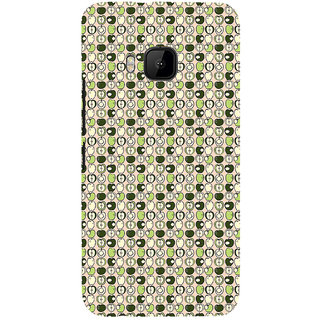 ifasho Animated Pattern design many small apple full and half Back Case Cover for HTC One M9
