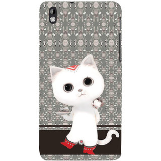 ifasho Winking and Dancing  Cat Back Case Cover for HTC Desire 816