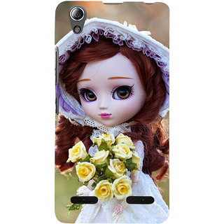ifasho Girl with flower in hand Back Case Cover for Lenovo A6000 Plus