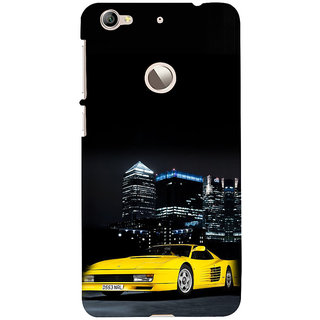 ifasho Stylish Yellow Car Back Case Cover for LeTV 1S