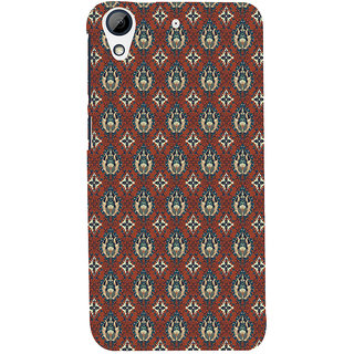 ifasho Modern Art Design animated cloth Pattern of flower Back Case Cover for HTC Desire 728