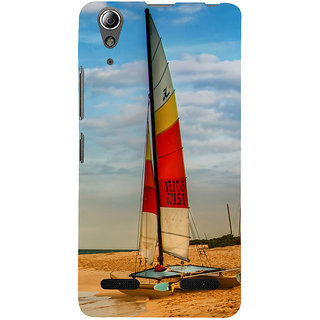 ifasho Boat in a beach Back Case Cover for Lenovo A6000 Plus