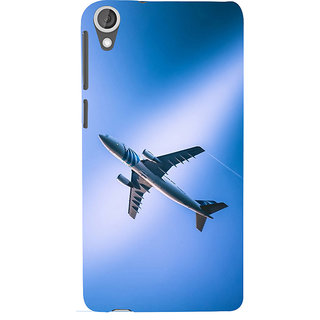 ifasho aeroPlane flying in blue sky Back Case Cover for HTC Desire 820