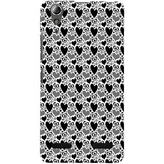 ifasho Modern Art Design Pattern with Lot Of small heart Back Case Cover for Lenovo A6000 Plus