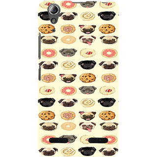 ifasho Animated Pattern dogs head and cookies Back Case Cover for Lenovo A6000