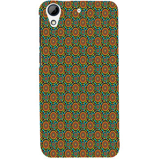 ifasho Animated Pattern design colorful flower in white background Back Case Cover for HTC Desire 728