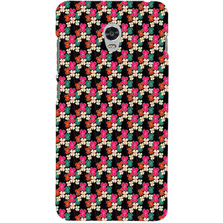 ifasho Animated Pattern design colorful flower in black background Back Case Cover for Lenovo Vibe P1