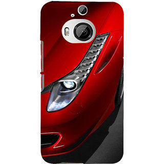 ifasho Red Royal colour Car Back Case Cover for HTC ONE M9 Plus