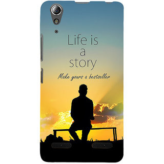 ifasho Good messge on Books life is a story Back Case Cover for Lenovo A6000 Plus