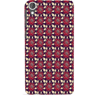 ifasho Animated Pattern black and white many lotus flower Back Case Cover for HTC Desire 820