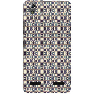 ifasho Colour Full Square Pattern Back Case Cover for Lenovo A6000 Plus