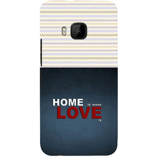 ifasho Home is where love is quote Back Case Cover for HTC One M9