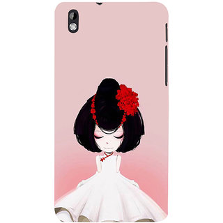ifasho Girl  with Flower in Hair Back Case Cover for HTC Desire 816
