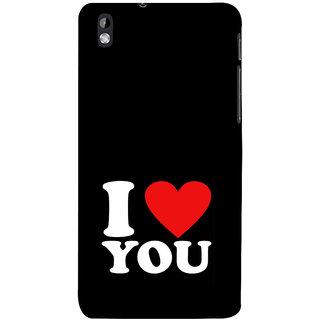 ifasho Love Quotes I love you Back Case Cover for HTC Desire 816