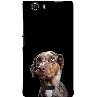 ifasho black Dog Back Case Cover for Micromax Canvas Nitro 2 E311