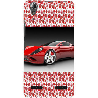 ifasho Stylish RED Car Back Case Cover for Lenovo A6000 Plus