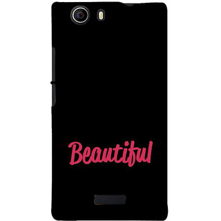ifasho Bautiful word Back Case Cover for Micromax Canvas Nitro 2 E311