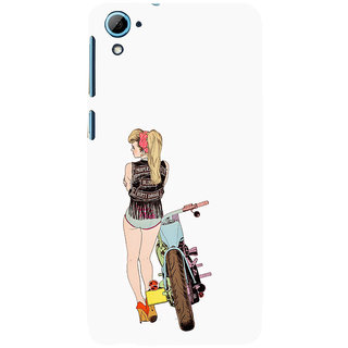 ifasho Girl with bullet Back Case Cover for HTC Desire 828