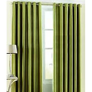 HDecore Green Plain Window Curtain 1 pc 5ft