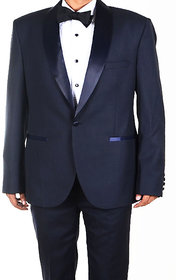 Aamir Khan Bollywood Style - Poly viscose Blue Suit Length Fabric