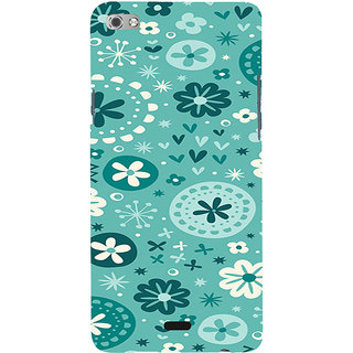 ifasho Modern Art Design animated cloth Pattern of flower Back Case Cover for Micromax Canvas Sliver 5 Q450