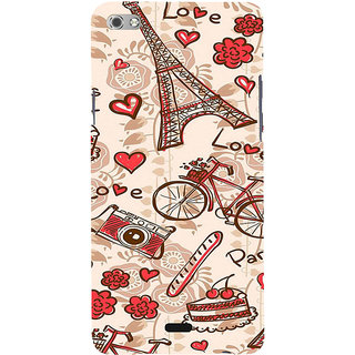 ifasho Modern Art Design Pattern Bicycle camera cake tower Back Case Cover for Micromax Canvas Sliver 5 Q450