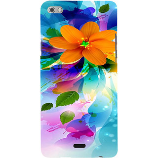 ifasho Flower Design multi color Back Case Cover for Micromax Canvas Sliver 5 Q450