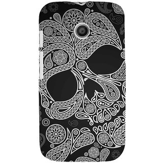 ifasho Modern  Design skeleton in royal Pattern Back Case Cover for MOTO E