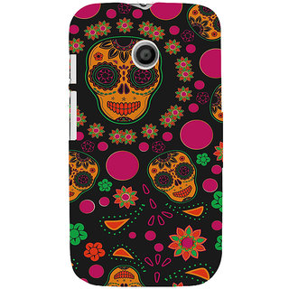 ifasho Animated Pattern Back Case Cover for MOTO E