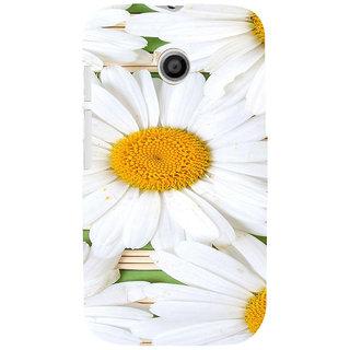 ifasho Pattern white flower Back Case Cover for MOTO E