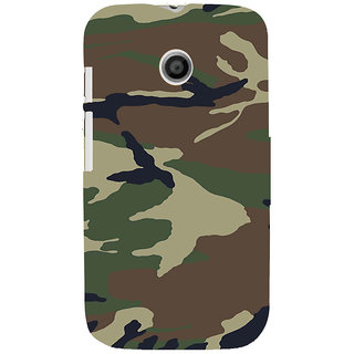 ifasho Army dress pattern Back Case Cover for MOTO E