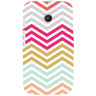 ifasho Animated Pattern of Chevron Arrows  Back Case Cover for MOTO E